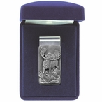 Moose Steel Money Clip with Pewter Accent