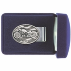 Motorcycle Steel Money Clip with Pewter Accent