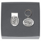 Mount Rushmore Money Clip & Key Chain Gift Set with Pewter Accents