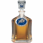 Navy Midshipmen Blue Capitol Glass Decanter with Pewter Accents