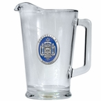 Navy Midshipmen Blue Crest Glass Pitcher with Pewter Accent