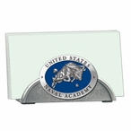 Navy Midshipmen Blue Metal Business Card Holder with Pewter Accent