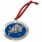 Navy Midshipmen Blue Pewter Accent Ornaments, Set of 2