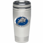 Navy Midshipmen Blue Stainless Steel Travel Mug with Pewter Accent