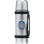 Navy Midshipmen Crest Blue Pewter Accent Stainless Steel Thermos