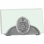 Navy Midshipmen Crest Metal Business Card Holder with Pewter Accent