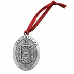 Navy Midshipmen Crest Pewter Accent Ornaments, Set of 2