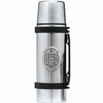 Navy Midshipmen Crest Pewter Accent Stainless Steel Thermos