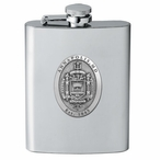 Navy Midshipmen Crest Stainless Steel Flask with Pewter Accent
