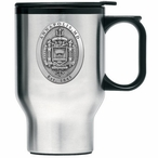 Navy Midshipmen Crest Stainless Steel Travel Mug with Handle & Pewter