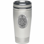 Navy Midshipmen Crest Stainless Steel Travel Mug with Pewter Accent