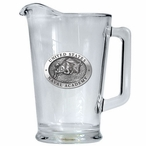 Navy Midshipmen Glass Pitcher with Pewter Accent