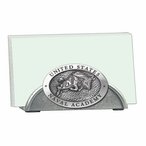 Navy Midshipmen Metal Business Card Holder with Pewter Accent