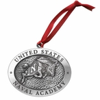 Navy Midshipmen Pewter Accent Ornaments, Set of 2
