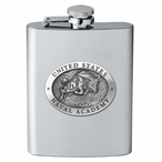 Navy Midshipmen Stainless Steel Flask with Pewter Accent