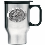 Navy Midshipmen Stainless Steel Travel Mug with Handle & Pewter Accent