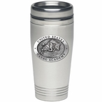 Navy Midshipmen Stainless Steel Travel Mug with Pewter Accent