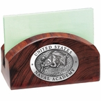 Navy Midshipmen Wood Business Card Holder with Pewter Accent