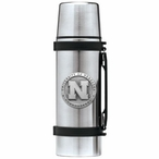 Nebraska Cornhuskers Pewter Accent Stainless Steel Thermos