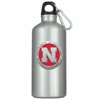 Nebraska Cornhuskers Red Pewter Accent Stainless Steel Water Bottle