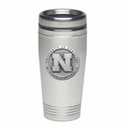 Nebraska Cornhuskers Stainless Steel Travel Mug with Pewter Accent