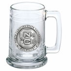 North Carolina State University Wolfpack Pewter Accent Glass Beer Mug