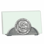 North Carolina State Wolfpack Metal Business Card Holder with Pewter