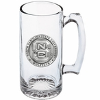 North Carolina State Wolfpack Pewter Accent Glass Super Beer Mug