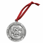 North Carolina State Wolfpack Pewter Accent Ornaments, Set of 2