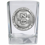 North Carolina State Wolfpack Pewter Accent Shot Glasses, Set of 4