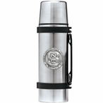 North Carolina State Wolfpack Pewter Accent Stainless Steel Thermos