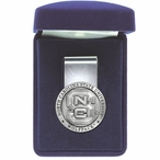 North Carolina State Wolfpack Pewter Accent Steel Money Clip