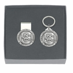 North Carolina State Wolfpack Pewter Money Clip & Key Chain Gift Set