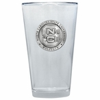 North Carolina State Wolfpack Pewter Pint Beer Glasses, Set of 2