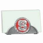 North Carolina State Wolfpack Red Metal Business Card Holder w/ Pewter