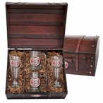 North Carolina State Wolfpack Red Pewter Accent Beer Chest Box Set