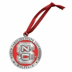 North Carolina State Wolfpack Red Pewter Accent Ornaments, Set of 2