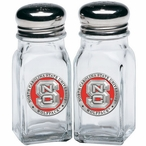 North Carolina State Wolfpack Red Pewter Accent Salt & Pepper Shakers