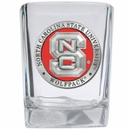 North Carolina State Wolfpack Red Pewter Accent Shot Glasses, Set of 4