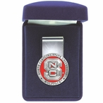 North Carolina State Wolfpack Red Pewter Accent Steel Money Clip