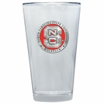 North Carolina State Wolfpack Red Pewter Pint Beer Glasses, Set of 2