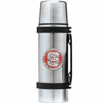 North Carolina State Wolfpack Red Pewter Stainless Steel Thermos