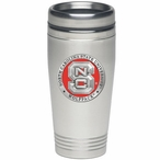 North Carolina State Wolfpack Red Travel Mug with Pewter Accent