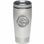 North Carolina State Wolfpack Stainless Steel Travel Mug with Pewter