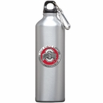 Ohio State Buckeyes Logo Red Pewter Stainless Steel Water Bottle