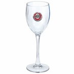 Ohio State Buckeyes Logo Red Pewter Wine Glass Goblets, Set of 2