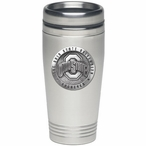 Ohio State Buckeyes Logo Stainless Steel Travel Mug with Pewter Accent