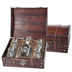 Ohio State Buckeyes Pewter Accent Capitol Decanter Chest Set