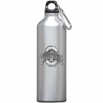 Ohio State Buckeyes Pewter Accent Stainless Steel Water Bottle