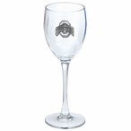 Ohio State Buckeyes Pewter Accent Wine Glass Goblets, Set of 2